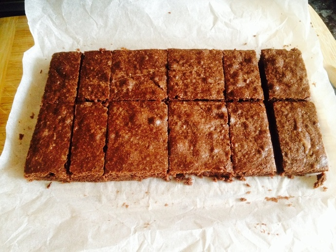 Brownie with sides cut off