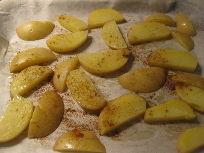 cutting,chips,and,ready,for,the,oven,to,dry,roast