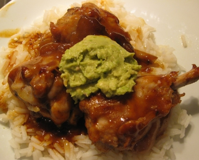 devilled,chicken,with,rice,and,lemon,avocado