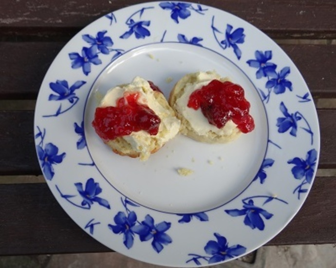 Devon Scones, Jam and Clotted Cream