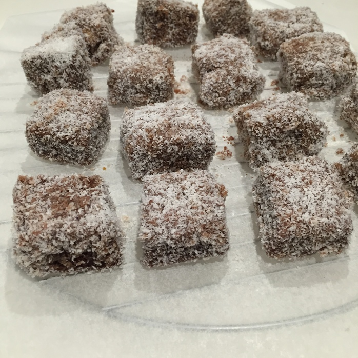 Double dipped lamingtons
