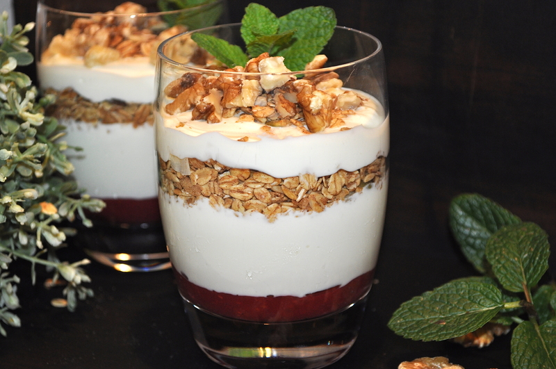 Raspberry and Muesli Cups