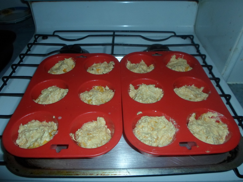Add flour and cinnamon  - Apricot And Coconut Muffins