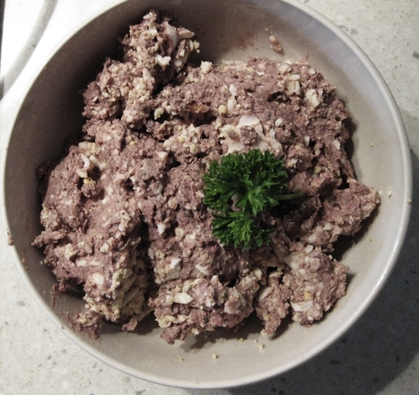 finished  - Chicken Liver Pate With Eggs