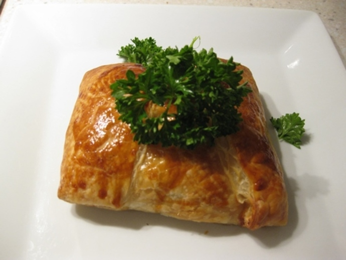 finished,chicken,pastie