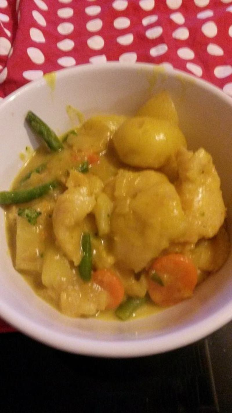Fish Curry with Low GI Potatoes