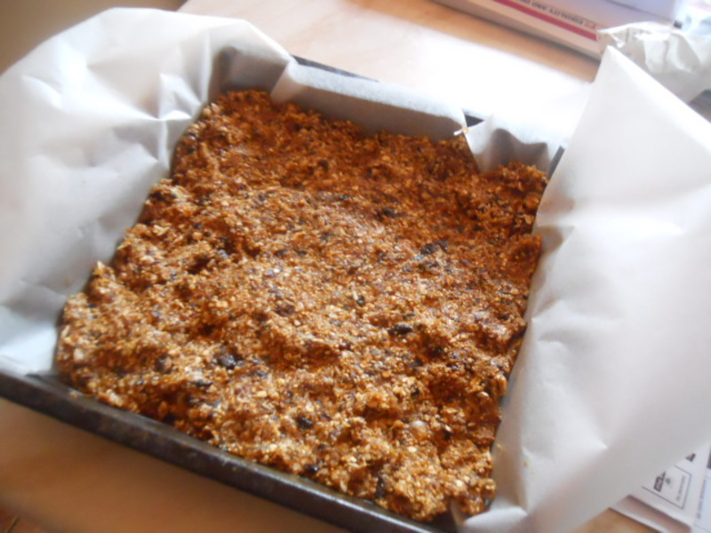flapjacks, no bake, healthy, figs, prunes