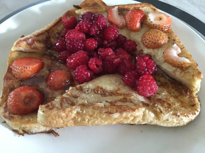 French, Toast, raspberries, strawberries