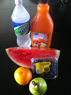 fruit punch, fruit cocktail, non alcoholic, drink