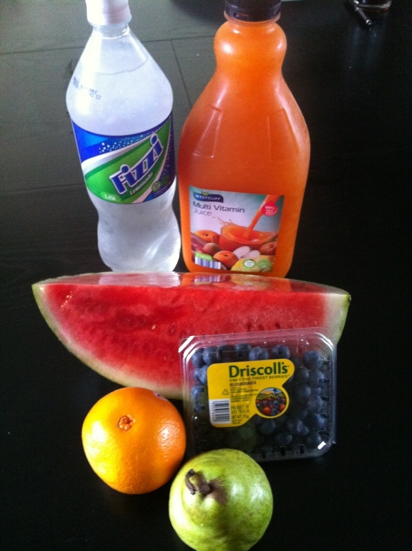fruit punch, fruit cocktail, non alcoholic, drink  - Summer Fruit Punch - Non-alcoholic