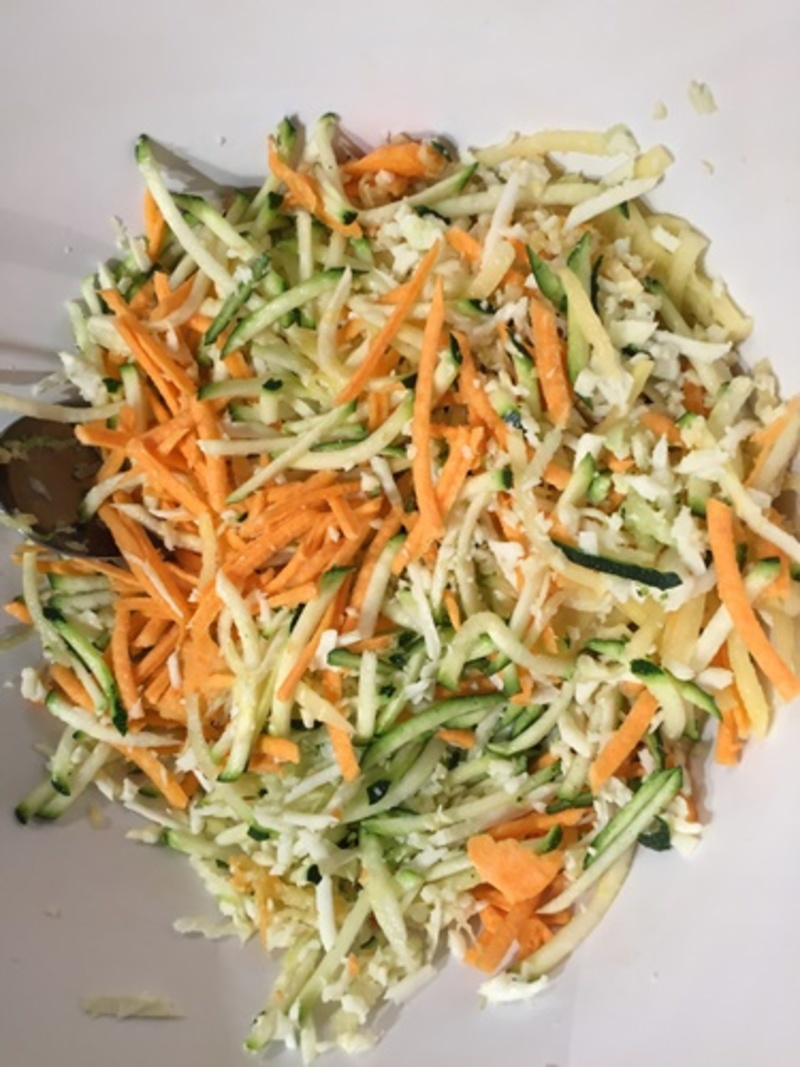 grated,vegetables,and,haloumi  - Vegetable and Haloumi Fritters or Burger