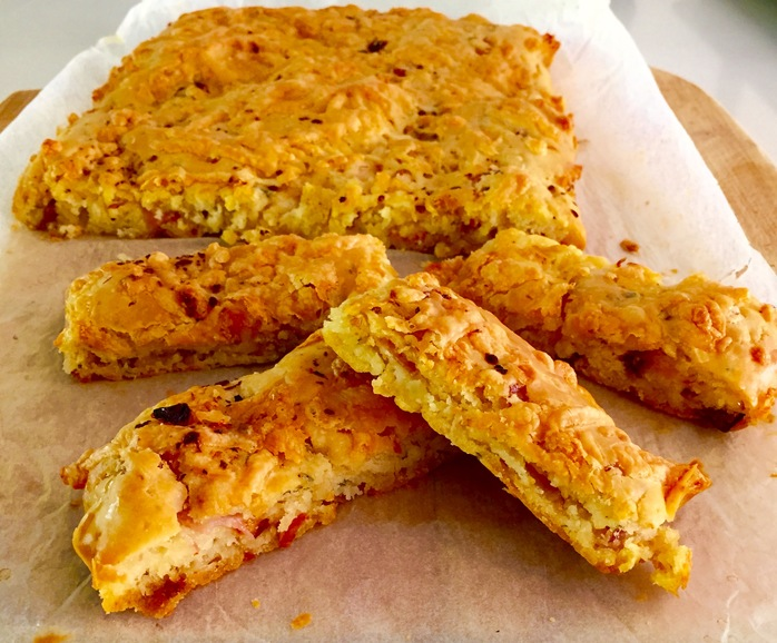 Ham, Cheese And Sundried Tomato Finger Bread