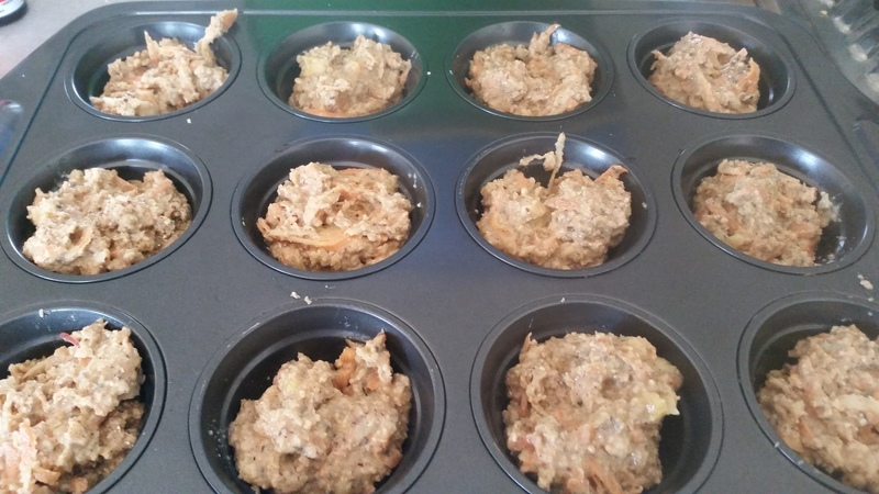 Healthy Apple, Banana & Oat Muffins