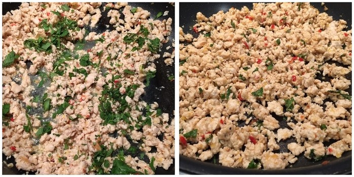 Healthy Asian Chicken Lettuce Cups Montage