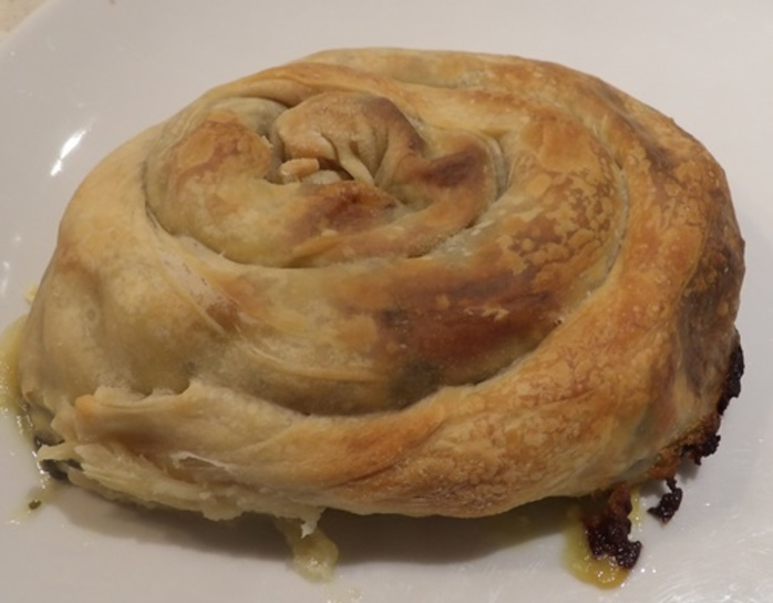 home,made,filo,pastry,filled,with,two,cheeses,and,silverbeet
