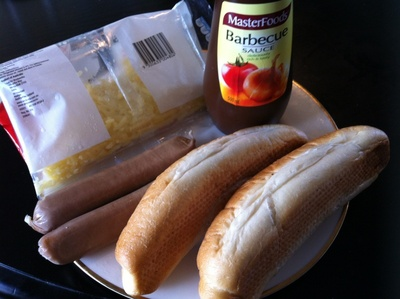 hot dog, sausage, BBQ, roll, sausage on a roll