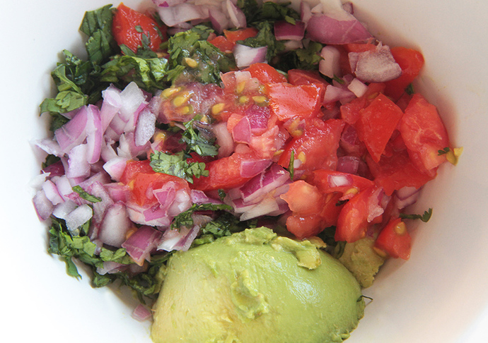 Mexican kidney bean layer, Mexican layered salad recipe