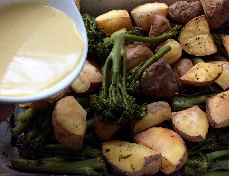 Lemony Roasted Potatoes & Broccolini