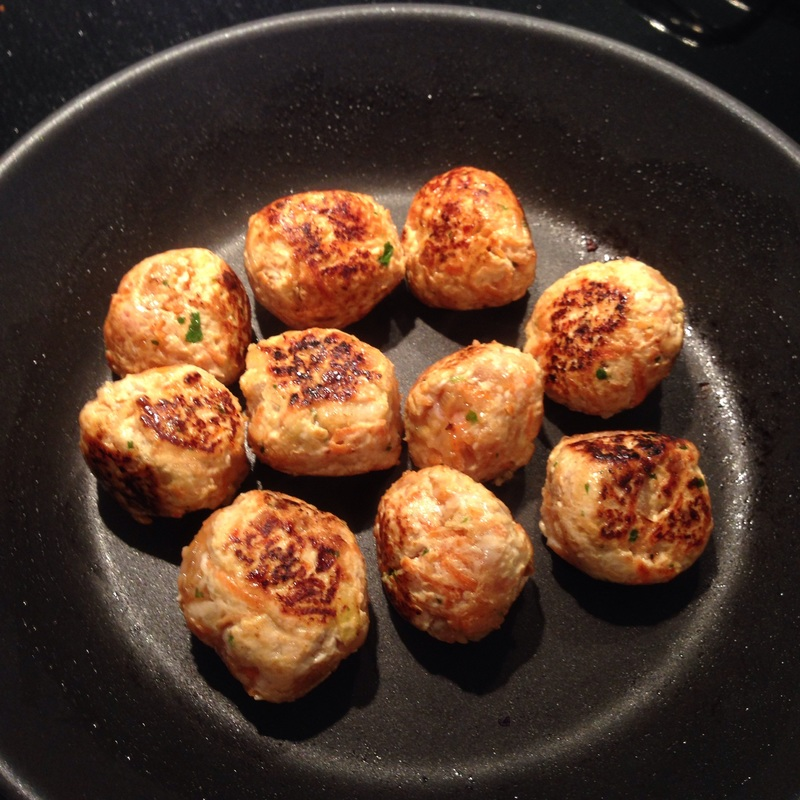 Chicken with Carrot, Pear & Apple Balls