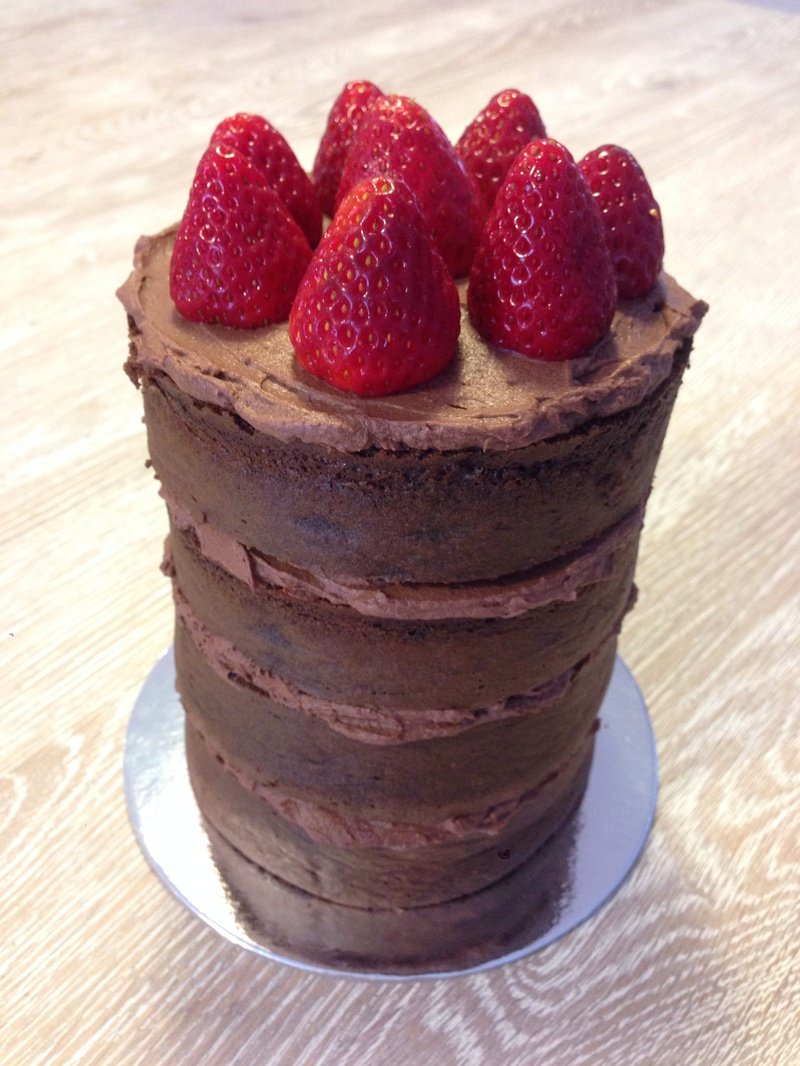 Chocolate Cake Tower with Mousse Icing