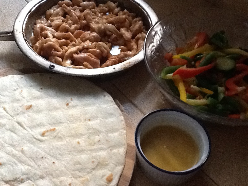 Chicken Wrap with Honey and Mustard Sauce