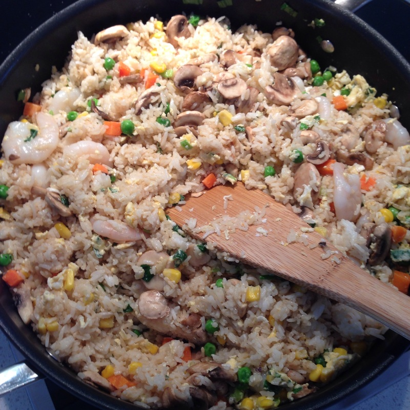 Yang Zhou Fried Rice with Prawns