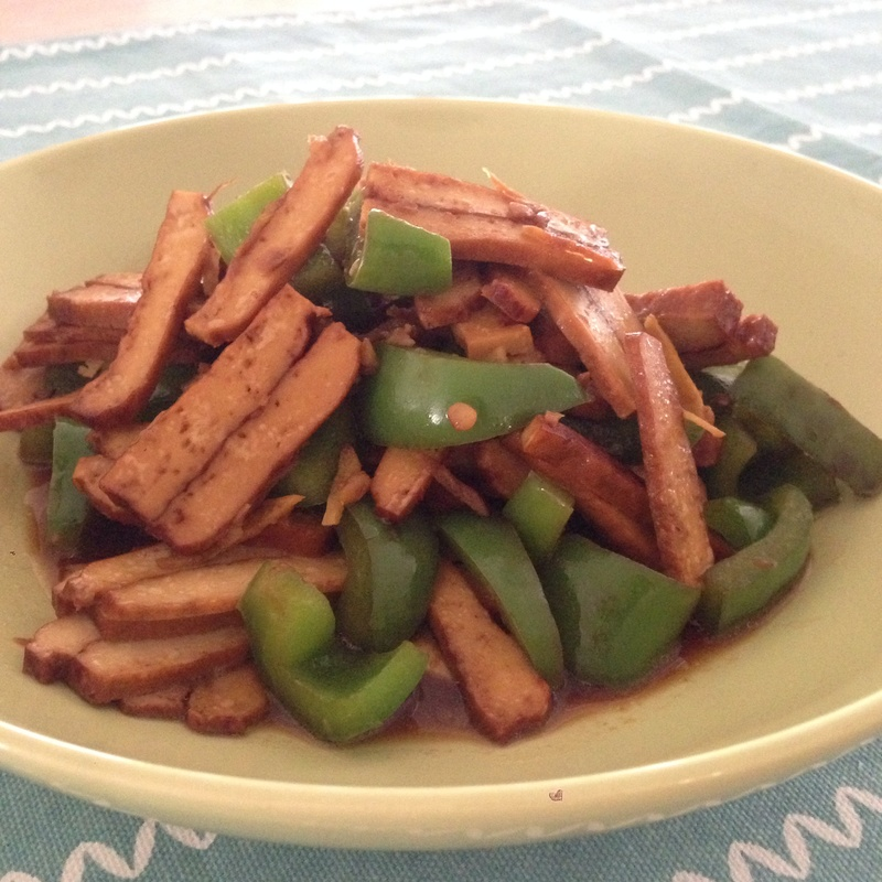 Firm Tofu with Green Bell Pepper