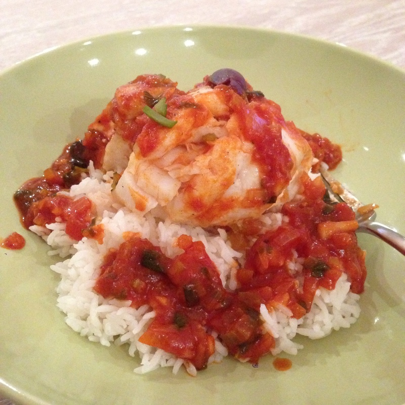 Oven-Baked Sole with Tomato Sauce