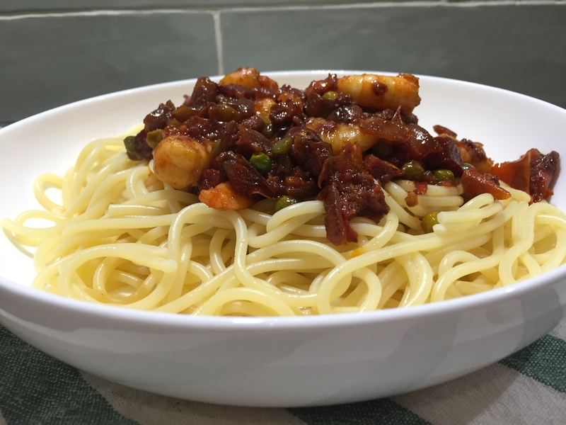 Rose Harissa Spiced Prawn Linguine