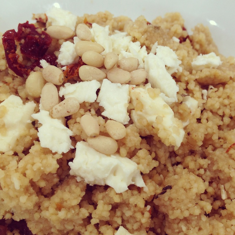 Sun-dried Tomato, Feta & Pine Nut Couscous Salad