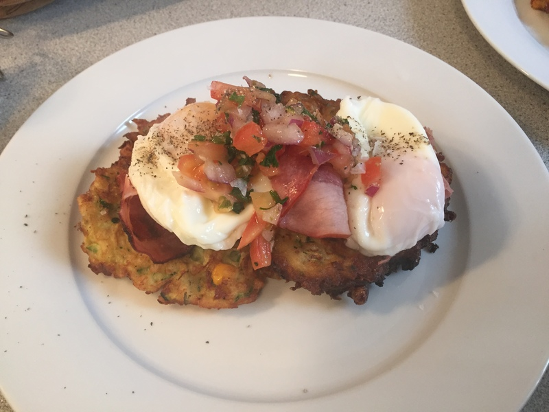 Zucchini Fritters & Poached Eggs