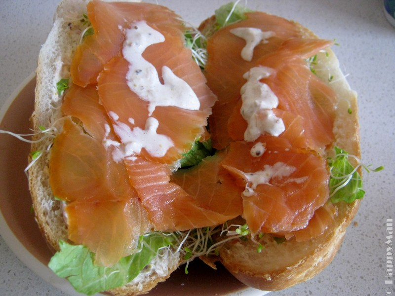Quick Salmon French Roll