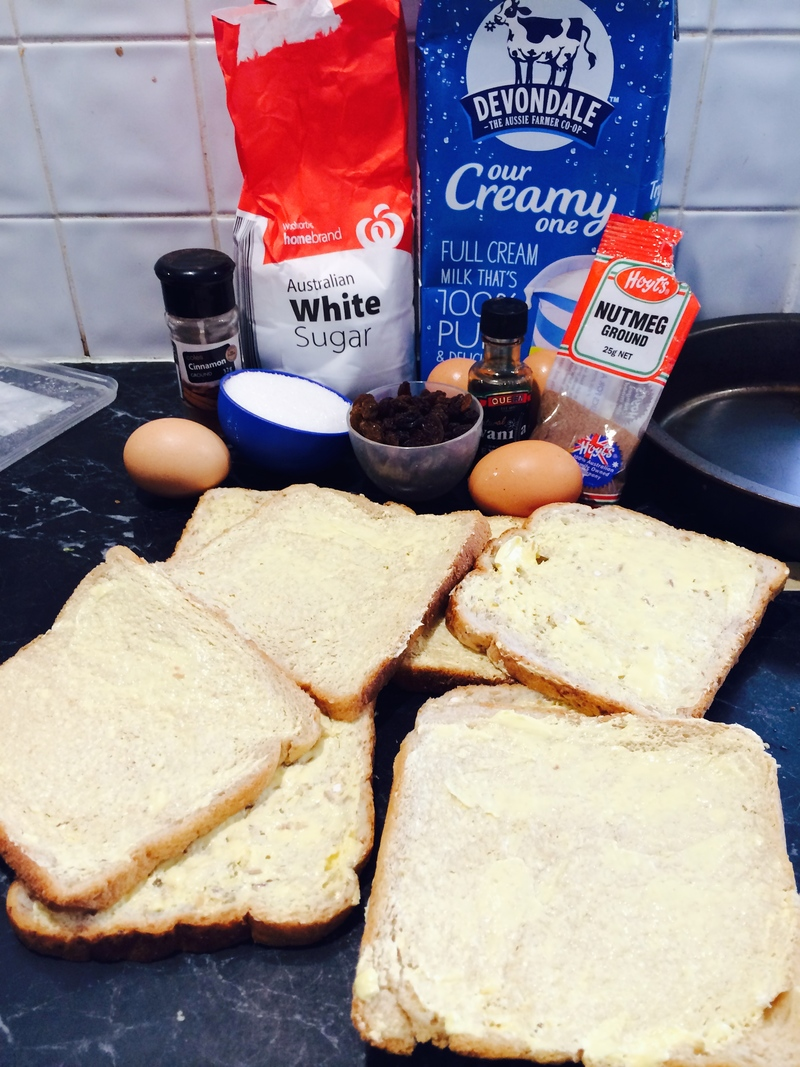 Microwave Bread and Butter Pudding