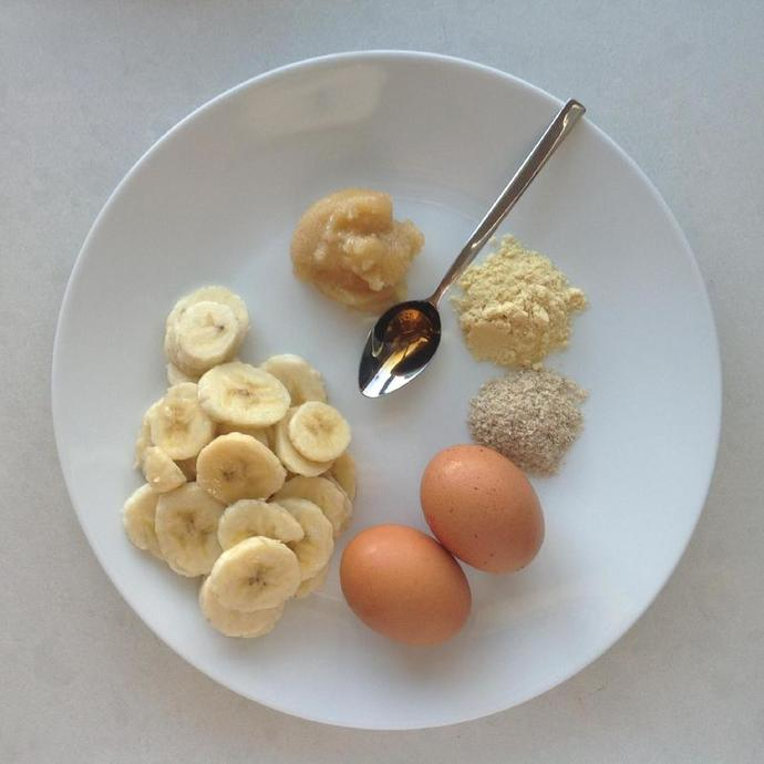 Ingredients, Eggs, Banana, Honey, Vanilla, Malt, Wheat