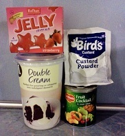 ingredients for fruit trifle