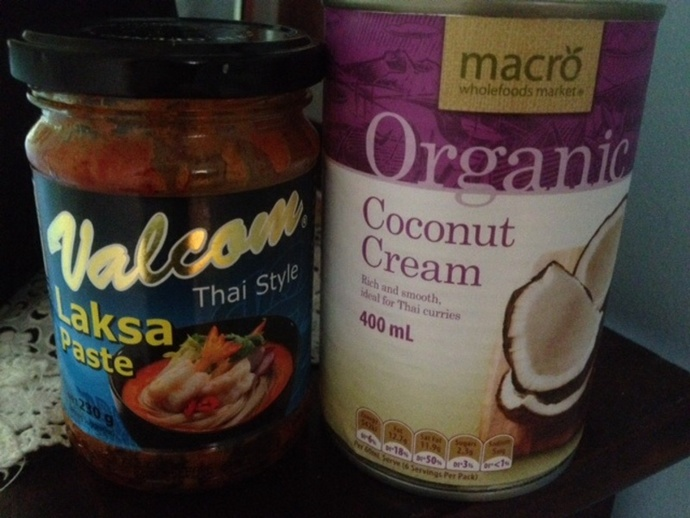Laksa paste and coconut cream