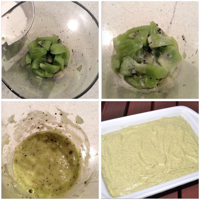 Lime and Kiwi Cheesecake Montage