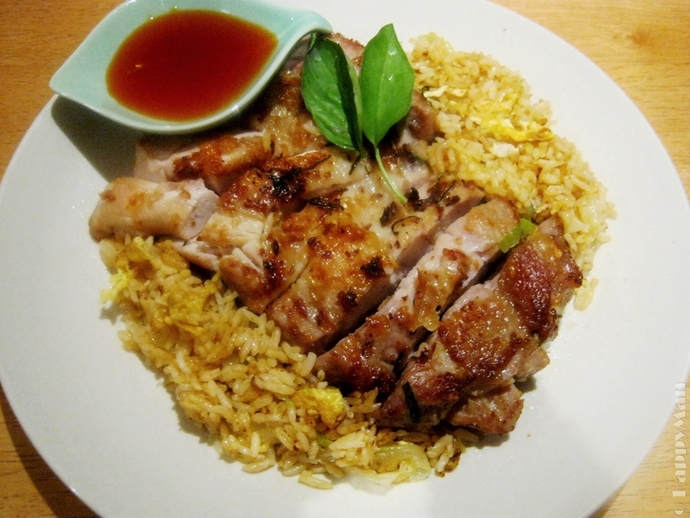 Lime Coconut Chicken Fillets with Fried Rice