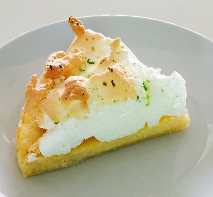 Lime And Coconut Pie With Meringue slice