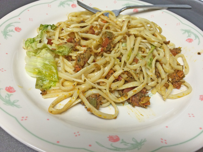 Linguine with Vegetable Bolognese Sauce