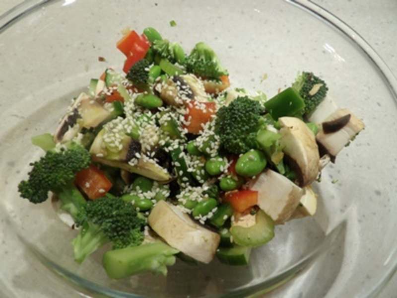 cooking,the,chicken  - Fruity Chicken with an Edamame Vegetable Salad