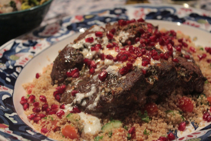 marinated lamb, spiced lamb, middle eastern food, middle eastern feast