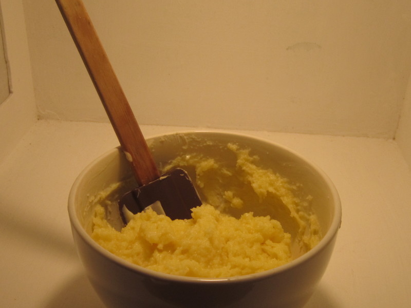 Mix Ingredients in Bowl  - White Chocolate Cream Cheese Spread