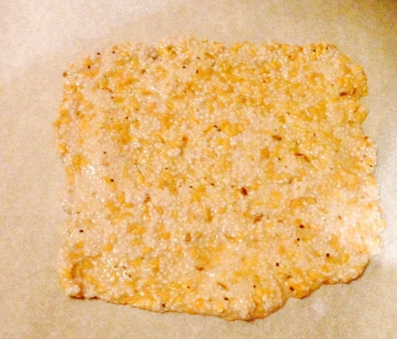 Crackers on a plate   - Chia and Flaxseed Crackers