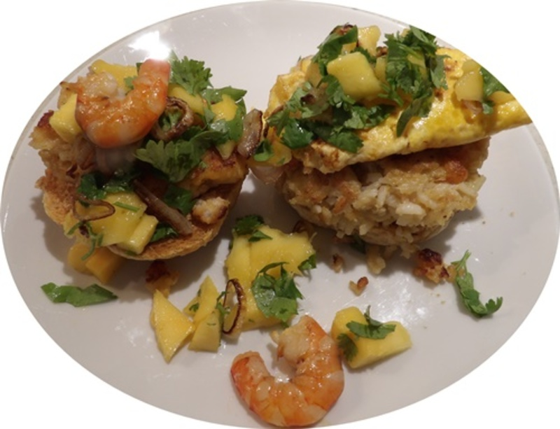 open,prawn,burger,with,coconut,rice