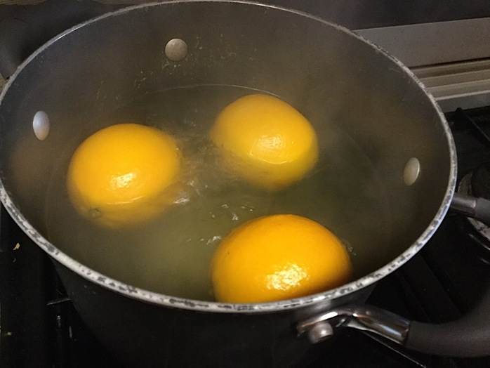 Orange, pomegranate, cake