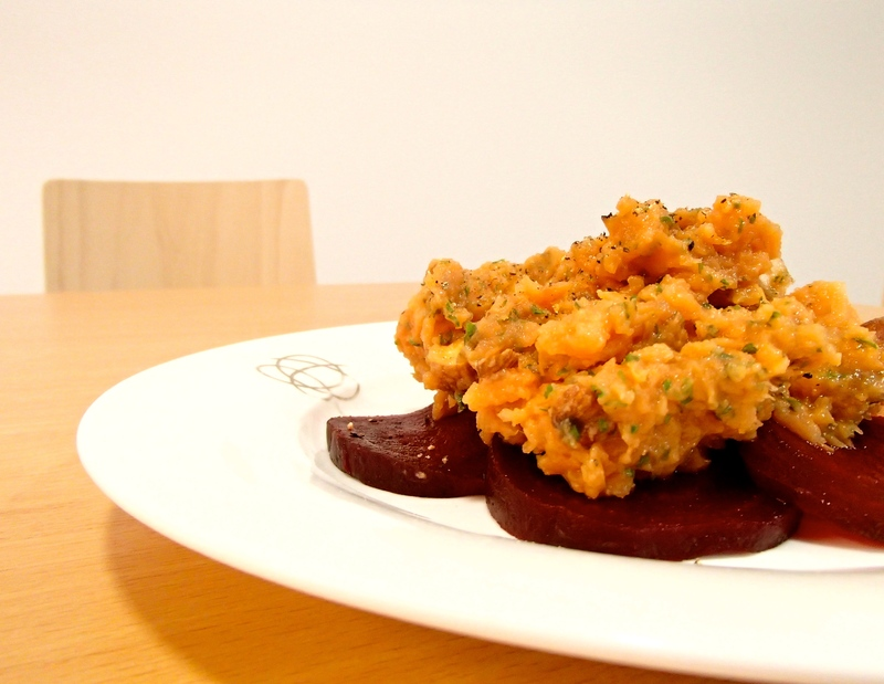 Sweet Potato Skordalia & Beetroot