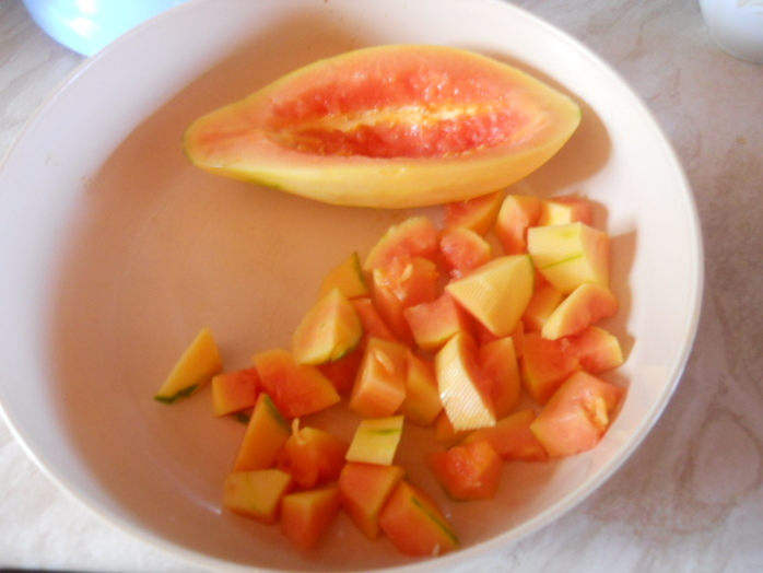 crystallised papaya