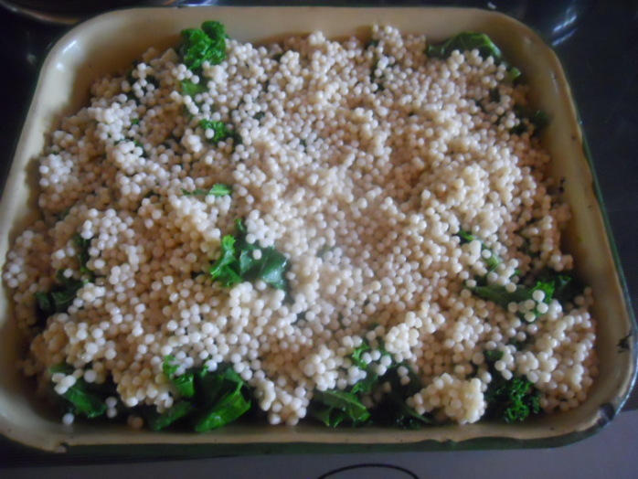 parsnip and kale couscous bake, couscous