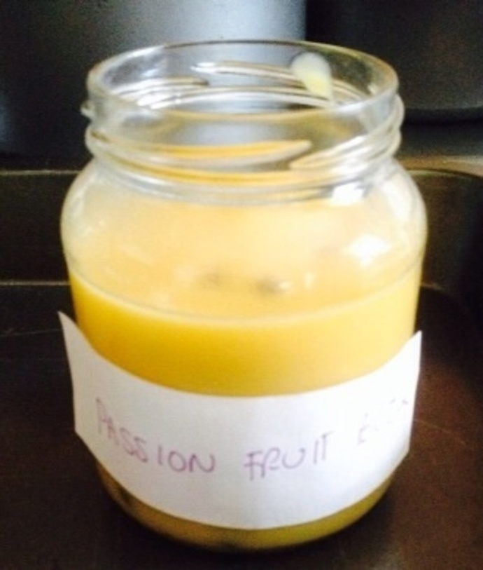 Passionfruit butter in the jar